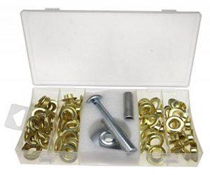 103pc Kit Réparation Pour Bâche tente 3 outils 50 oeillets et 50 Rondelles de la marque Micro Trader image 0 produit