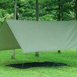 3m x 3m étanche, bâche, toile de tente, bâche anti-pluie, bâche imperméable, abri de randonnée, vert olive de la marque Earlybird Savings image 2 produit