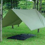 3m x 3m étanche, bâche, toile de tente, bâche anti-pluie, bâche imperméable, abri de randonnée, vert olive de la marque Earlybird Savings image 1 produit