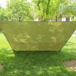 3m x 3m étanche, bâche, toile de tente, bâche anti-pluie, bâche imperméable, abri de randonnée, vert olive de la marque Earlybird Savings image 3 produit