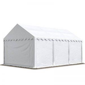 Abri / Tente de stockage ECONOMY - 3 x 6 m en blanc - toile PVC 500 g/m² imperméable / protection contre les rayons UV (80+) / structure robuste en acier galvanisé de la marque INTENT24 image 0 produit