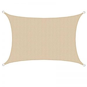 AMANKA Voile d'ombrage en PE-HD toile rectangulaire de jardin 6x4m pour faire ombre couverture respirant perméable Crème de la marque AMANKA image 0 produit