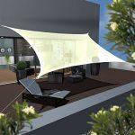 AMANKA Voile d'ombrage en PE-HD toile rectangulaire de jardin 6x4m pour faire ombre couverture respirant perméable Crème de la marque AMANKA image 1 produit