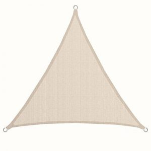AMANKA Voile d'ombrage XL 3x3x3m toile triangulaire de jardin pour faire ombre en PE-HD respirant perméable Crème de la marque AMANKA image 0 produit