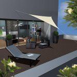 AMANKA Voile d'ombrage XL 3x3x3m toile triangulaire de jardin pour faire ombre en PE-HD respirant perméable Crème de la marque AMANKA image 1 produit