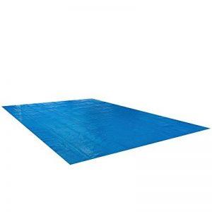 Arebos Bâche solaire à bulles pour piscine rectangulaire bleu 8 x 5 m 400 µ/microns de la marque Arebos image 0 produit