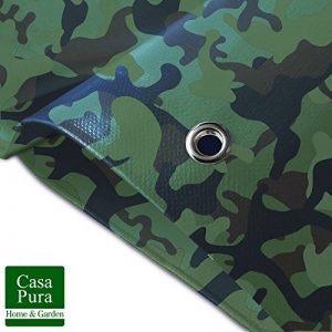 Bache Camouflage casa pura® Légère - Coins Renforcés | Bache de Protection | Résistant aux UV | Densité 100g/m² | Bache Militaire, 3x5m de la marque casa pura image 0 produit