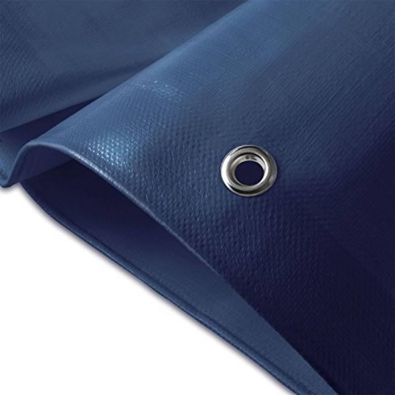 Laneetal B/âche de Protection en poly/éthyl/ène 280g//m/² b/âche imperm/éable Blanc avec /œillets Couverture de Haute densit/é 2x3m