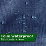 Bâche de protection casa pura® en polyéthylène | haute densité 260g/m² | 100% imperméable à l'eau et aux UV | bleu - env. 3x5m de la marque casa pura image 3 produit