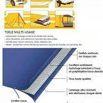 Bâche de protection casa pura® en polyéthylène | haute densité 260g/m² | 100% imperméable à l'eau et aux UV | bleu-vert - env. 3x4m de la marque casa pura image 5 produit