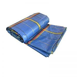 Bâche de vapeur de bâche imperméable à l'eau Protection solaire Épaissir le tissu de pluie Bâche de protection solaire d'ombre Bâche industrielle Avec la corde en plastique ( Color : Blue , Size : 4*5 m/157*197 inch ) de la marque QI FANG BUSINE image 0 produit