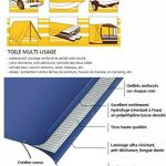 Bache impermeable etm® avec oeillet | protection extérieur | résistant à l'eau et aux UV | haute densité 180g/m² | blanc - env. 4x6m de la marque etm image 4 produit