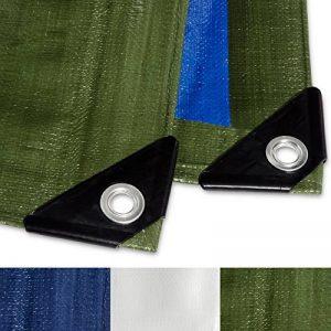 Bache impermeable etm® avec oeillet   protection extérieur   résistant à l'eau et aux UV   très épaisse, densité 260g/m²   bleu-vert - env. 3x4m de la marque etm image 0 produit