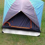 Bache tente etm® avec oeillet | étanche et résistante aux UV | indéchirable | idéale camping | épaisse densité 180g/m² | blanc - env. 3x4m de la marque etm image 1 produit