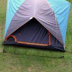 Bache tente etm® avec oeillet | étanche et résistante aux UV | indéchirable | idéale camping | épaisse densité 180g/m² | bleu-vert - env. 3x4m de la marque etm image 1 produit