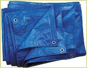Bâche bleue 60g/m², 6x 12m tissus Bâche Bâche de protection Bâche à raccord universel de la marque GardenFlora image 0 produit