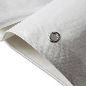 Bâche de protection casa pura® en polyéthylène   haute densité 260g/m²   100% imperméable à l'eau et aux UV   blanc - env. 6x8m de la marque casa pura image 0 produit