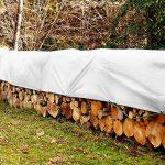 Bâche de protection casa pura® en polyéthylène | haute densité 260g/m² | 100% imperméable à l'eau et aux UV | blanc - env. 6x8m de la marque casa pura image 4 produit