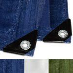 Bâche de protection casa pura® en polyéthylène | haute densité 260g/m² | 100% imperméable à l'eau et aux UV | bleu - env. 3x5m de la marque casa pura image 2 produit