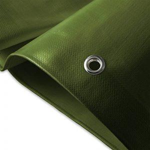 Bâche de protection casa pura® en polyéthylène   haute densité 260g/m²   100% imperméable à l'eau et aux UV   bleu-vert - env. 3x4m de la marque casa pura image 0 produit