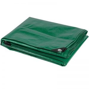 Bâche en tissu Bâche Bâche de protection Bâche 5x 8m en aluminium rondelle œillets 120g m2Vert de la marque KREATOR image 0 produit