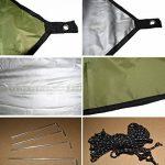 Bâche Imperméable 3m x 3m / crayfomo Bâche Anti-pluie /Abri de Randonnée, Toile de Tente(vert olive) de la marque Crayfomo image 3 produit