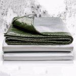 Bâches DUO Matériau épais de couverture épaisse, imperméable à l'eau, grand pour la tente d'auvent, bateau, RV ou piscine Épaisseur de couverture 0.35mm, 180g/m² de la marque Bâches image 3 produit