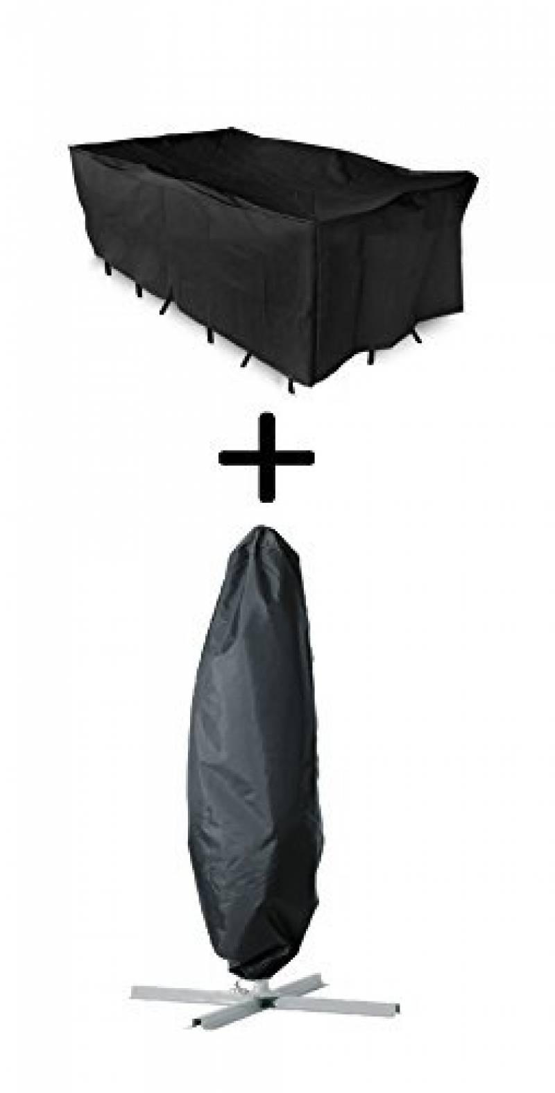 2 x Woodside Noir Étanche chaise longue/transat mobilier de ...