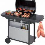 Campingaz Barbecue à Gaz Class 2 LX Vario, 2 Brûleurs, Puissance 7.5kW, Grille et Plancha en Acier Double Emaillage, 2 Tablettes Latérales de la marque Campingaz image 2 produit