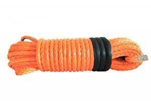 Corde câblée synthétique 12mm x 30m pour treuil Orange de la marque QIQU image 0 produit