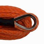 Corde câblée synthétique 12mm x 30m pour treuil Orange de la marque QIQU image 2 produit