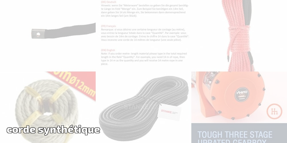 Seilwerk STANKE 50 m 10 mm corde en polypropyl/ène corde damarrage gr/éement corde blanche