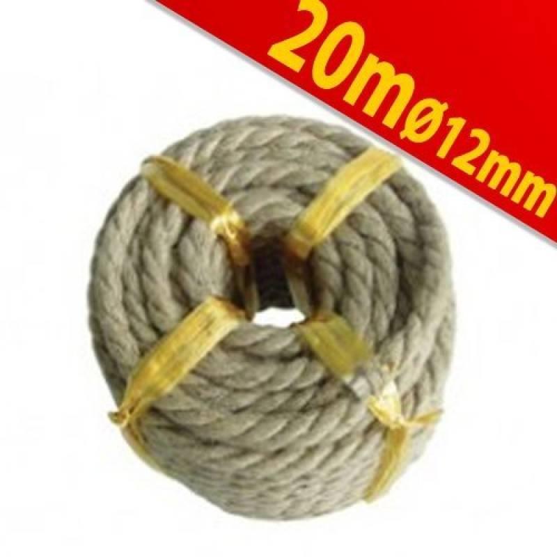 Hempex Corde en Chanvre synth/étique 12 mm x 20 m