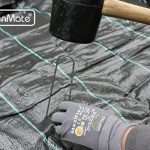 GardenMate® 100 piquets de fixation en acier GALVANISE 150 mm, 25 mm large, Ø 2,9mm de la marque GardenMate® image 2 produit