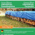 GardenMate® Bâche de protection 3x6m VERT/BLEU UNIVERSAL Bâche à oeillets bâche bâteau 90g/m² de la marque GardenMate image 5 produit