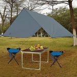 GEERTOP Étanche Bâche de Tente Légère Poratble Impermeable Anti-pluie pour Camping Randonnee Pique-nique Abri - 300 x 220 cm avec Cordes et Piquets (Gris) de la marque GEERTOP image 6 produit