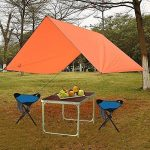 GEERTOP Étanche Bâche de Tente Légère Poratble Impermeable Anti-pluie pour Camping Randonnee Pique-nique Abri - 300 x 220 cm avec Cordes et Piquets (Orange) de la marque GEERTOP image 6 produit