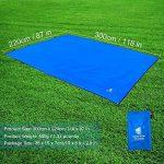 GEERTOP Étanche Bâche de Tente Légère Poratble Impermeable Anti-pluie pour Camping Randonnee Pique-nique Abri - 300 x 220 cm avec Cordes et Piquets (Bleu) de la marque GEERTOP image 1 produit