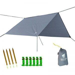 GEERTOP Étanche Bâche de Tente Légère Poratble Impermeable Anti-pluie pour Camping Randonnee Pique-nique Abri - 300 x 220 cm avec Cordes et Piquets (Gris) de la marque GEERTOP image 0 produit
