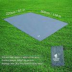 GEERTOP Étanche Bâche de Tente Légère Poratble Impermeable Anti-pluie pour Camping Randonnee Pique-nique Abri - 300 x 220 cm avec Cordes et Piquets (Gris) de la marque GEERTOP image 1 produit