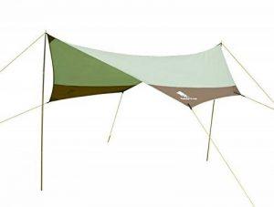 GEERTOP Tarp/ Bâche/ Toile de tente/ Tente Bâche/ Bâche de Abri 4 à 7 personnes - 4,4 m x 4,1 m (2,9 kg) - Imperméable Large pour Camping randonnée - Pôles inclus (440 x 410 x 354 cm) de la marque Geertop image 0 produit