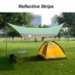 GEERTOP Tarp/ Bâche/ Toile de tente/ Tente Bâche/ Bâche de Abri 4 à 7 personnes - 4,4 m x 4,1 m (2,9 kg) - Imperméable Large pour Camping randonnée - Pôles inclus (440 x 410 x 354 cm) de la marque Geertop image 2 produit