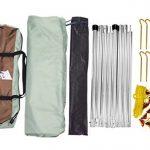 GEERTOP Tarp/ Bâche/ Toile de tente/ Tente Bâche/ Bâche de Abri 4 à 7 personnes - 4,4 m x 4,1 m (2,9 kg) - Imperméable Large pour Camping randonnée - Pôles inclus (440 x 410 x 354 cm) de la marque Geertop image 6 produit