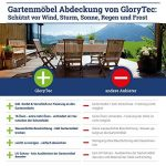 Glorytec Housse de Jardin Table - Protection Premium pour le meubles de Jardin - 200x160x70 pour les garnitures des sièges rectangulaires, livraison gratuite à votre domicile de la marque Glorytec image 4 produit
