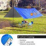Gogogoal étanche Camping Couverture Tapis pique-nique Grande, léger, couverture de plage, compact, portable, anti UV extérieur Abat-jour Tente Bâche 210x 210cm/210x 180cm de la marque Gogogoal image 2 produit