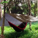 Hamac Rain Fly Tente Bâche 3m x 3m, étanche coupe-vent anti-neige Camping Abri, portable, léger Basha Pare-soleil pour Snow Camping en plein air Voyage de la marque Unigear image 5 produit