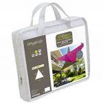 HESPERIDE - 117746 - Toile solaire Voile d'ombrage 3 x 3 x 3 m pour ombrager votre jardin, votre terrasse ou votre balcon - Coloris BLANC de la marque HESPERIDE image 2 produit