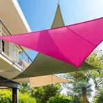 HESPERIDE - 117746 - Toile solaire Voile d'ombrage 3 x 3 x 3 m pour ombrager votre jardin, votre terrasse ou votre balcon - Coloris BLANC de la marque HESPERIDE image 3 produit