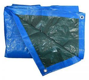 HomeMaison Bâche de Protection Étanche avec Œillets PVC Bleu 300 x 400 cm de la marque HomeMaison image 0 produit