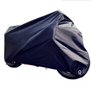 HOMMINI Housse De Moto, Bâche Imperméable contre la pluie,soleil,neige,gel et poussière,265*105*125CM, Noir de la marque HOMMINI image 0 produit
